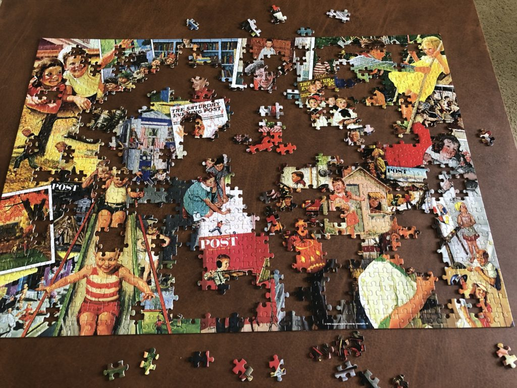 My almost completed puzzle.